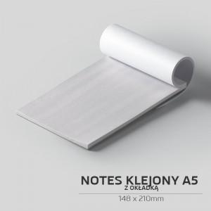 Notes klejony z okładką A5 - 50szt.