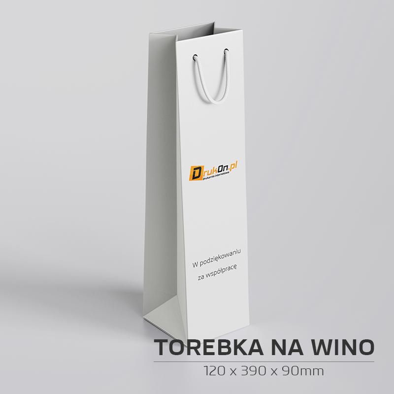 Torebka papierowa na wino