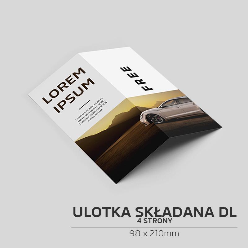 Ulotka składana DL - 4 strony - 100szt.