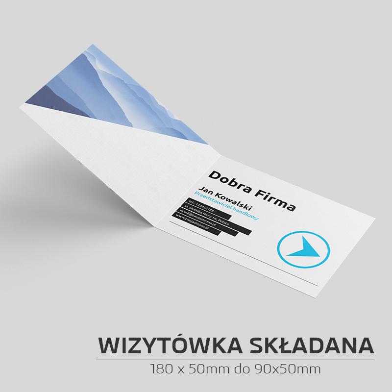 Wizytówka składana 180x50 do 90x50 - 500szt.